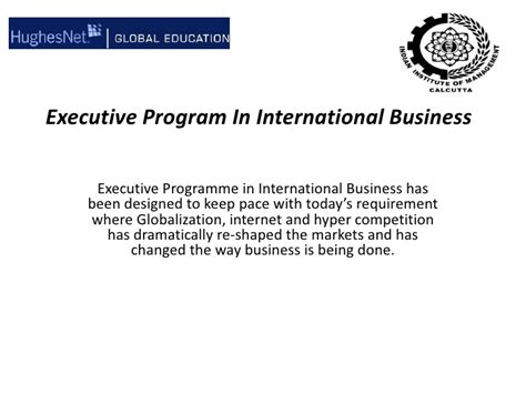Wsu Mba Program Length by International Business Executive Program International