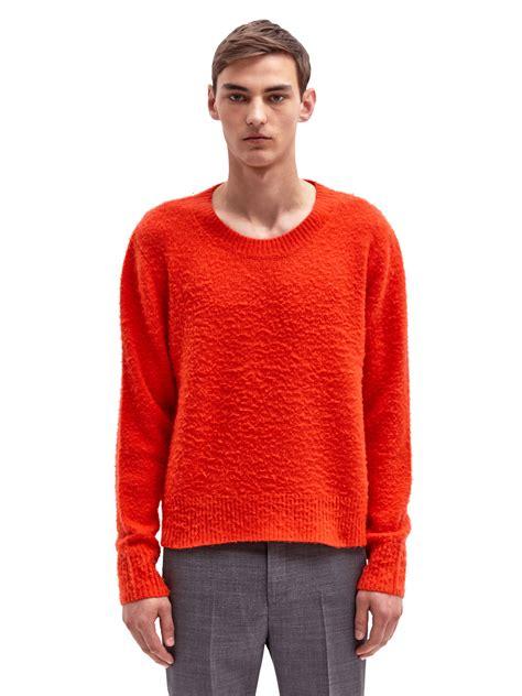 Tj Sweater Orange lyst acne studios peele sweater in orange for