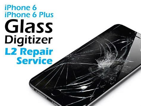 iphone 6s cracked screen glass replacement repair service ebay
