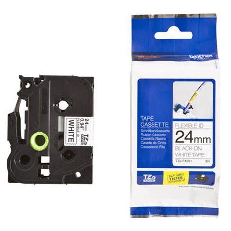 P Touch Label Tze 251 tze fx251 original p touch label 24mm 0 94 black on white id