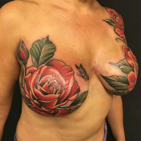 tattoo flower nipple mastectomy tattoo post mastectomy tattoos garnet tattoo