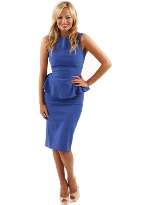 Blue Peplum Dress the gallery for gt blue peplum dress