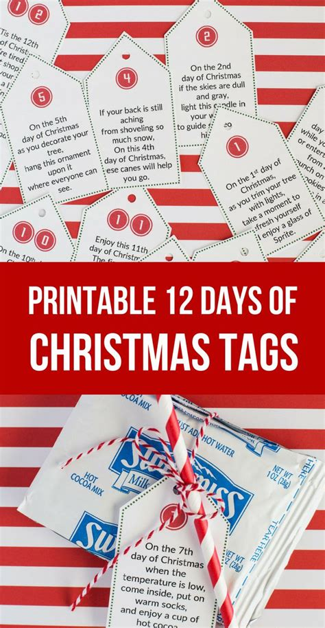 sweet simple 12 days of christmas printables