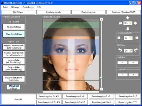 Bewerbungen Generator Passbilder Generator F 252 R Personalausweis Oder Bewerbungen