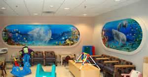 Kids Room Wall Murals nebraska artist undersea mural for a children s hospital