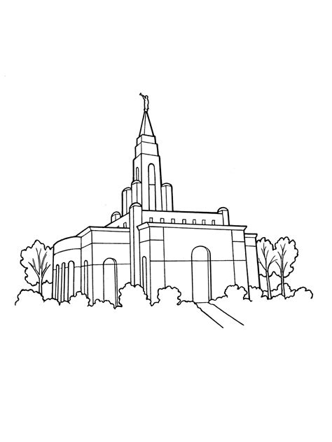 coloring pages angel moroni temple