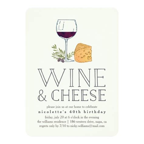 Any Occasion Wine And Cheese Party Invitation Zazzle Com Wine And Cheese Invitation Template Free