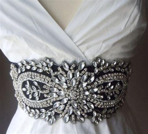 black rhinestone bridal sash wedding belt bridesmaid