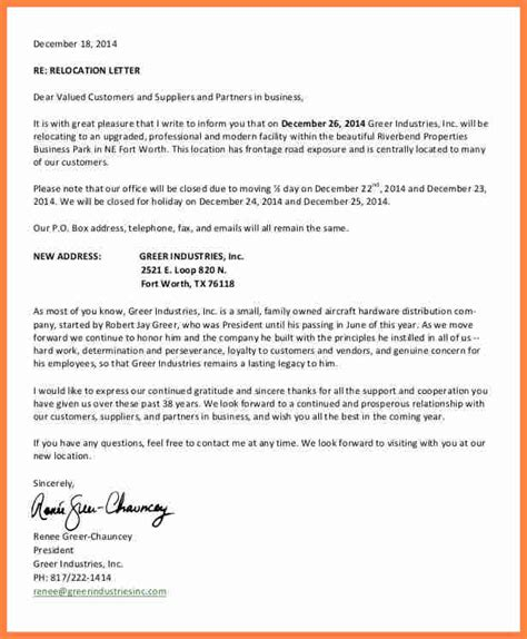 business letter notice 6 business relocation notice notice letter