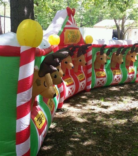 santa reindeer stable inflatable 9 best images about reindeer stable on stables all and x