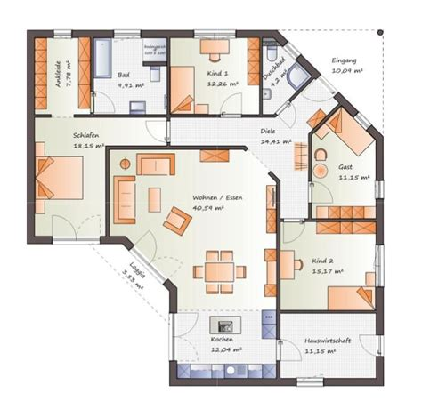 Grundriss Wohnung 85 M2 by Die Besten 25 Winkelbungalow Grundriss Ideen Auf