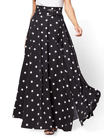 Polka Dot Maxi Skirt ny c paper bag waist maxi skirt polka dot
