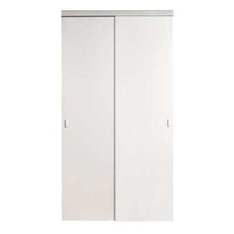 Impact Plus Closet Doors Impact Plus 72 In X 96 In Smooth Flush Solid Primed Mdf Interior Closet Sliding Door With