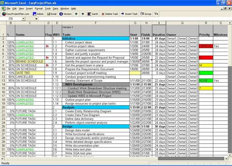 project plan layout exle easyprojectplan excel project plan gantt 14 1 screenshots