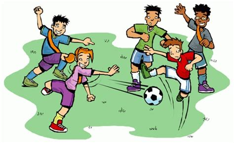 kids playing football clipart clipartxtras