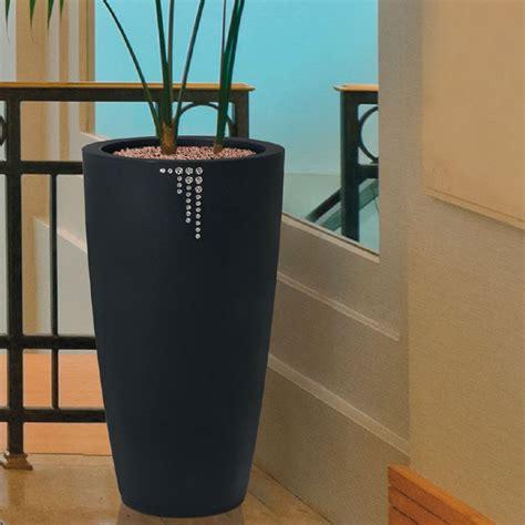 piante di interno vaso di design per piante con finitura opaca e cristalli