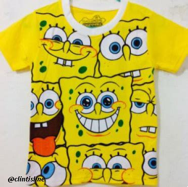 Kaos Spongebob 17 kaos karakter anak anak clintisline
