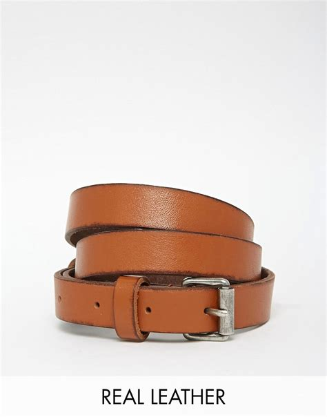 becksondergaard becksondergaard clean leather belt at asos