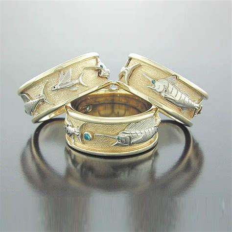 wedding bands for outdoorsmen fish grooms and on