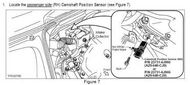 P0340 Infiniti G35 Where Is The Camshaft Position Indicator Sensor Located In