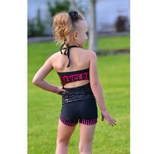 Lexi luu little girls black fuchsia dance mia outfit set 2 6