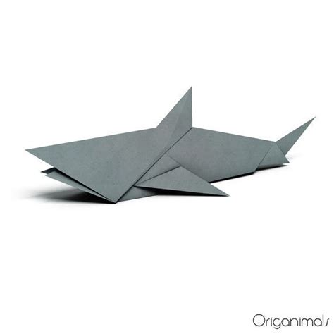 shark origami printable design
