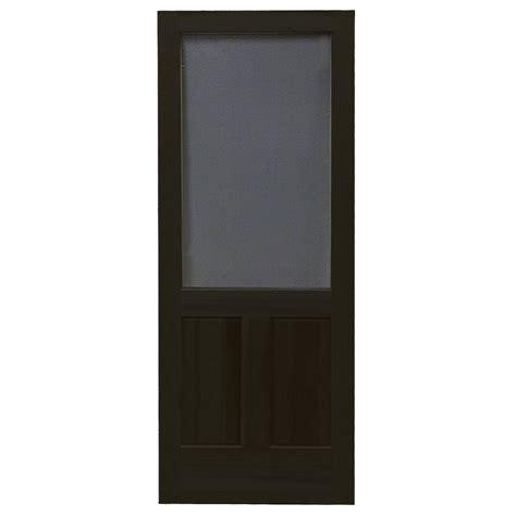 30 X 80 Door by Shop Screen Tight Pioneer Black Wood Screen Door Common