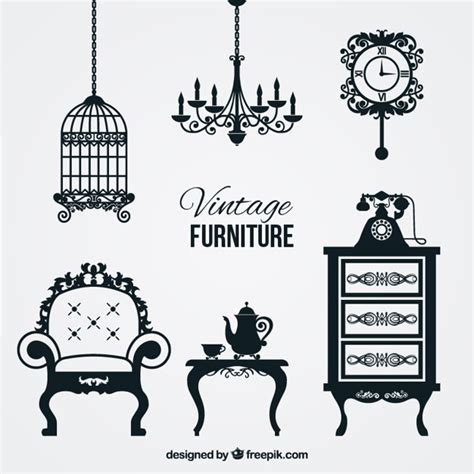 Kronleuchter Gezeichnet by Vintage Furniture Vector Free