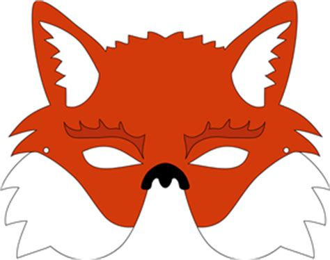 best photos of free printable fox mask template