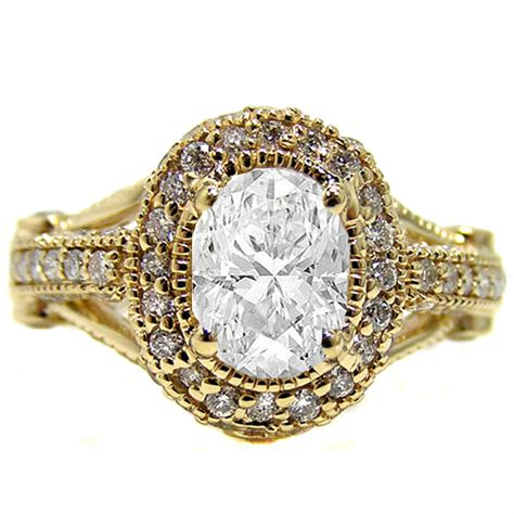 antique gold engagement rings