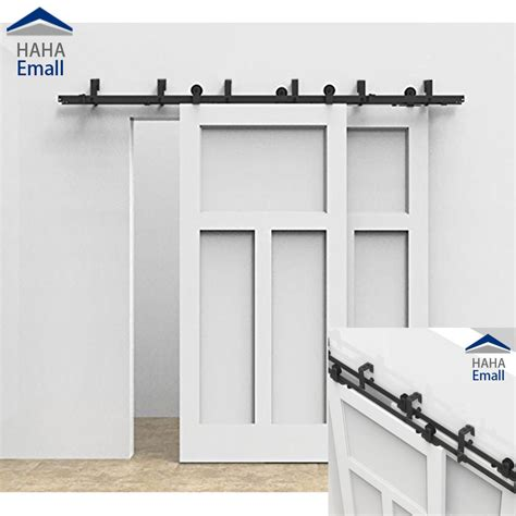 closet sliding door hardware interior bypass sliding barn door hardware track closet kit t formed new ebay