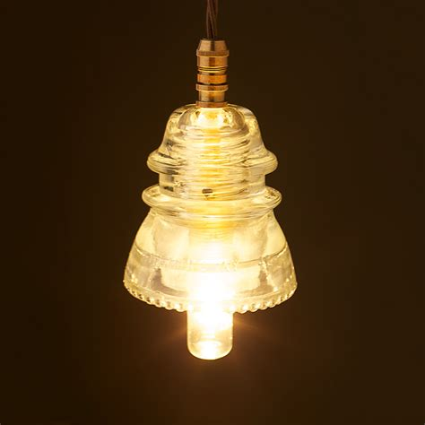 Insulator Pendant Lights Hemingray Insulator No42 Clear Ses Pendant Light