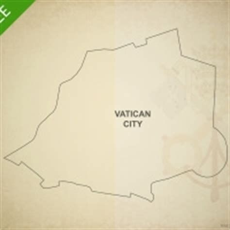 Vatican City Map Outline by Vector Map Of Vatican City Political One Stop Map