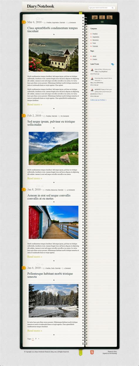 notebook themes wordpress notebook theme free download free software