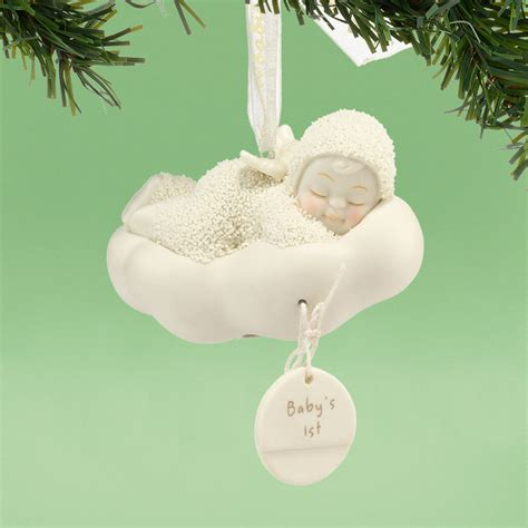snowbabies sleeping baby s first christmas ornament