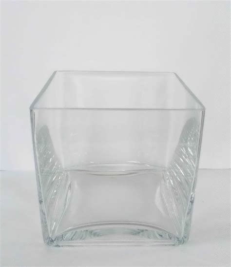 Large Clear Glass Vases Large Glass Square Vase Clear