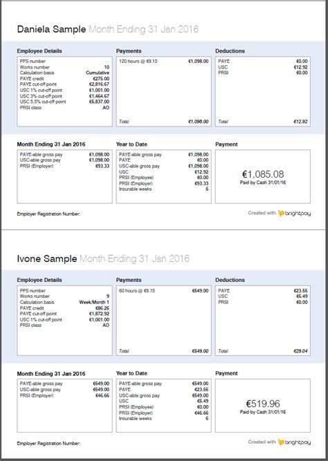thesaurus brightpay payroll software payslip screenshot