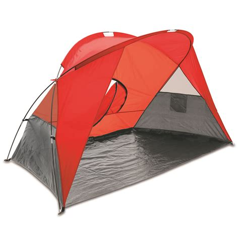 10x12x5ft magnum wall tent and angle kits picnic time cove sun shelter red