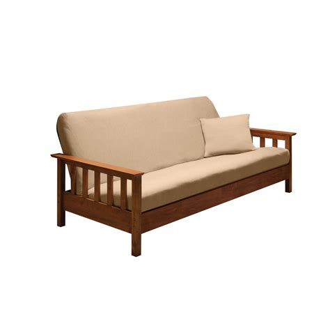 Beige Futon Cover by Furniture Futon Cover With Beige Color And Wooden Sofa