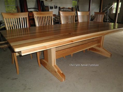 Handmade Amish Furniture - custom dining room table chairs by farm amish