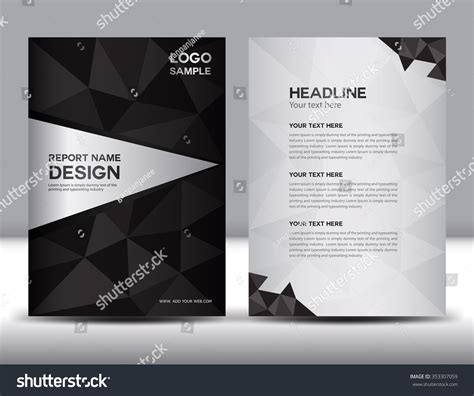 black brochure template black annual report vector illustration cover stock vector