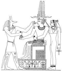il dio egizio con testa di sciacallo anubi