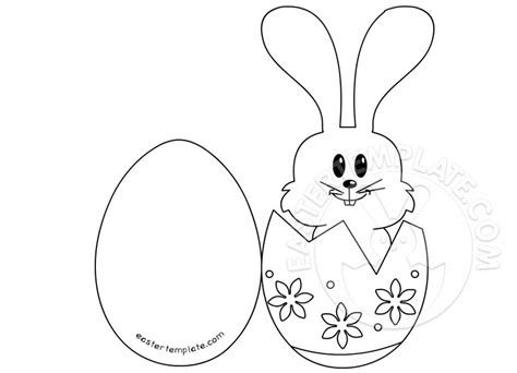 Rabbit Easter Card Templates craft a easter bunny card easter template