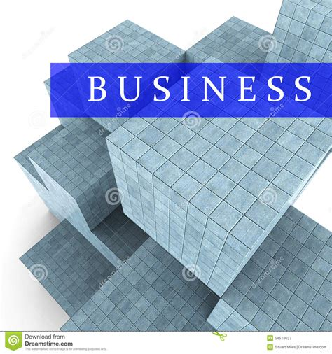 Tme Disigner Lovezi Building Blocks business blocks design represents building activity and commercial stock illustration image
