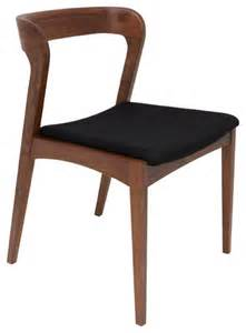 Houzz Dining Chairs Bjorn Dining Chairs Walnut With Black Fabric Seat Set Of 2 Modern Dining Chairs By Inmod