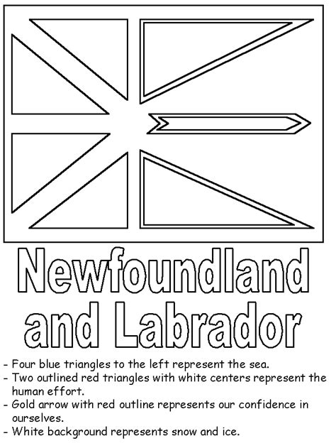 coloring pages of newfoundland newfoundland flag