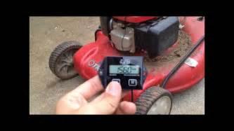 lawnmower tachometer hour meter install youtube