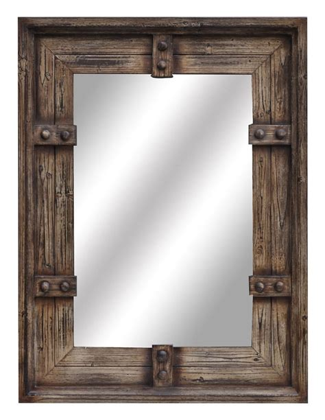 rustic mirrors home decor new large 44 aged wood style wall mirror rustic western
