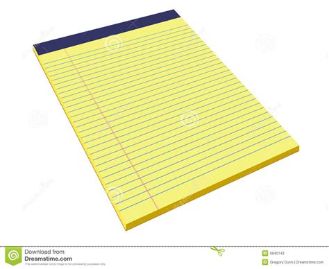 How To Make Pads Of Paper - yellow pad stock illustration image of margin