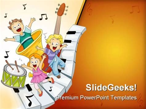 Musical Notes Entertainment Powerpoint Templates And Powerpoint Backgrounds 0411 Powerpoint Musical Powerpoint Templates